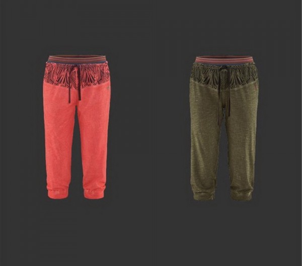 UNRA 3/4 Jersey Pant W's Red Chili